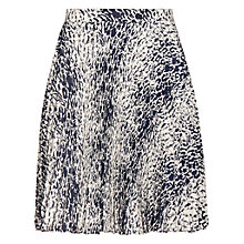 Buy Reiss Hilbury Pleat Mini Skirt, Night Navy Online at johnlewis.com