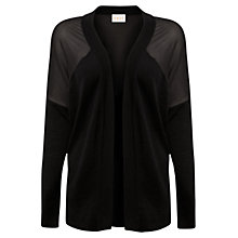 Buy East Wool Sheer Panel Knit Cardigan, Black Online at johnlewis.com