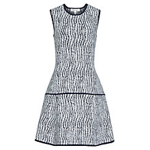 Buy Reiss Tara Knitted Dress, Navy / Cream Online at johnlewis.com