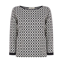 Buy Oasis Grid Check Top, Black/White Online at johnlewis.com