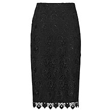 Buy Reiss Orta Lace Pencil Skirt, Black Online at johnlewis.com