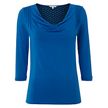 Buy White Stuff Busy Lizzy T-Shirt, Bright Aqua Online at johnlewis.com