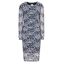 Buy Reiss Fox Printed Bodycon Dress, Blue Online at johnlewis.com