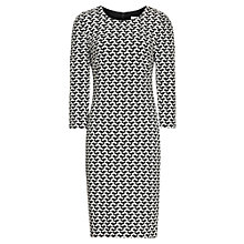 Buy Reiss Wenlock Jersey Bodycon Dress, Black / White Online at johnlewis.com