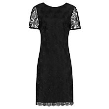Buy Reiss Romy Lace Detail Dress, Black Online at johnlewis.com