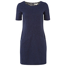 Buy White Stuff Jacquard Panel Tunic Dress, Navy Online at johnlewis.com