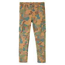 Buy Mango Kids Boys' Camouflage Cargo Trousers, Beige Online at johnlewis.com