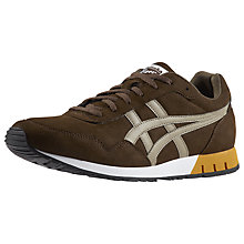 Buy Onitsuka Tiger Curreo Trainers, Dark Brown Online at johnlewis.com