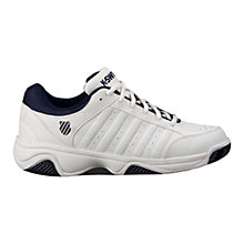 Buy K-Swiss Grancourt III Men's Tennis Shoes, White/Navy Online at johnlewis.com