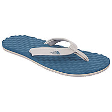Buy The North Face Women's Base Camp Flip Flops, Teal/White Online at johnlewis.com