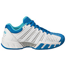 Buy K-Swiss Women's BigShot Light 2.5 Tennis Shoes, White/Blue Online at johnlewis.com