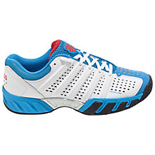 Buy K-Swiss Bigshot Light 2.5 Men's Tennis Shoes, White/Blue Online at johnlewis.com
