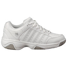 Buy K-Swiss Women's Grancourt III Tennis Shoes, White/Silver Online at johnlewis.com