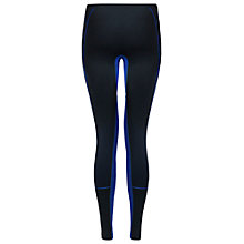 Buy Striders Edge Contrast Power Leggings, Black/Blue Online at johnlewis.com