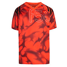 Buy Adidas F50 Boy's Graphic T-Shirt, Solar Red/Black Online at johnlewis.com