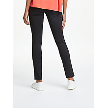 Buy AG The Prima Denim Skinny Jean, Super Black Online at johnlewis.com