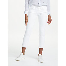 Buy AG The Stilt Roll Up Cropped Jean, White Online at johnlewis.com