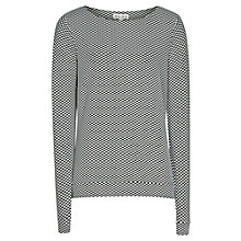 Buy Reiss Cal Long Sleeve Jersey Top, Black / White Online at johnlewis.com