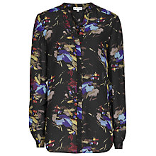 Buy Reiss Dotty Printed Long Sleeve Shirt, Multi Black Online at johnlewis.com