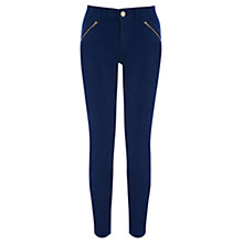 Buy Oasis Coloured Zip Pocket Jade Jeans, Rich Blue Online at johnlewis.com