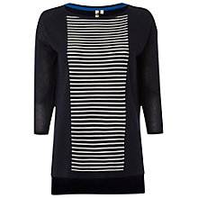 Buy White Stuff Graphic Line Jumper, Navy Online at johnlewis.com