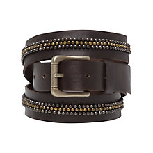 Buy White Stuff Metallic Beaded Belt, Chocolate Online at johnlewis.com
