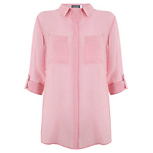 Buy Mint Velvet Slim Shirt, Pink Candy Online at johnlewis.com