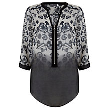 Buy Mint Velvet Annabel Print Zip Blouse, Multi Online at johnlewis.com