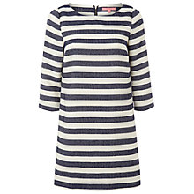 Buy White Stuff Weave Tunic Top, White / Navy Online at johnlewis.com