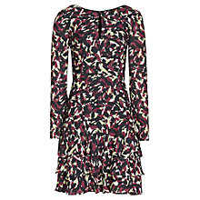 Buy Reiss Aster Long Sleeve Printed Dress, Passion Online at johnlewis.com