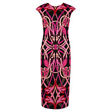 Buy Ted Baker Liner Jewel Midi Dress, Pink Online at johnlewis.com