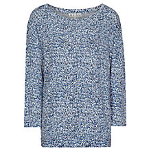 Buy Reiss Lago Long Sleeve Printed Top, Blue Tropic Online at johnlewis.com