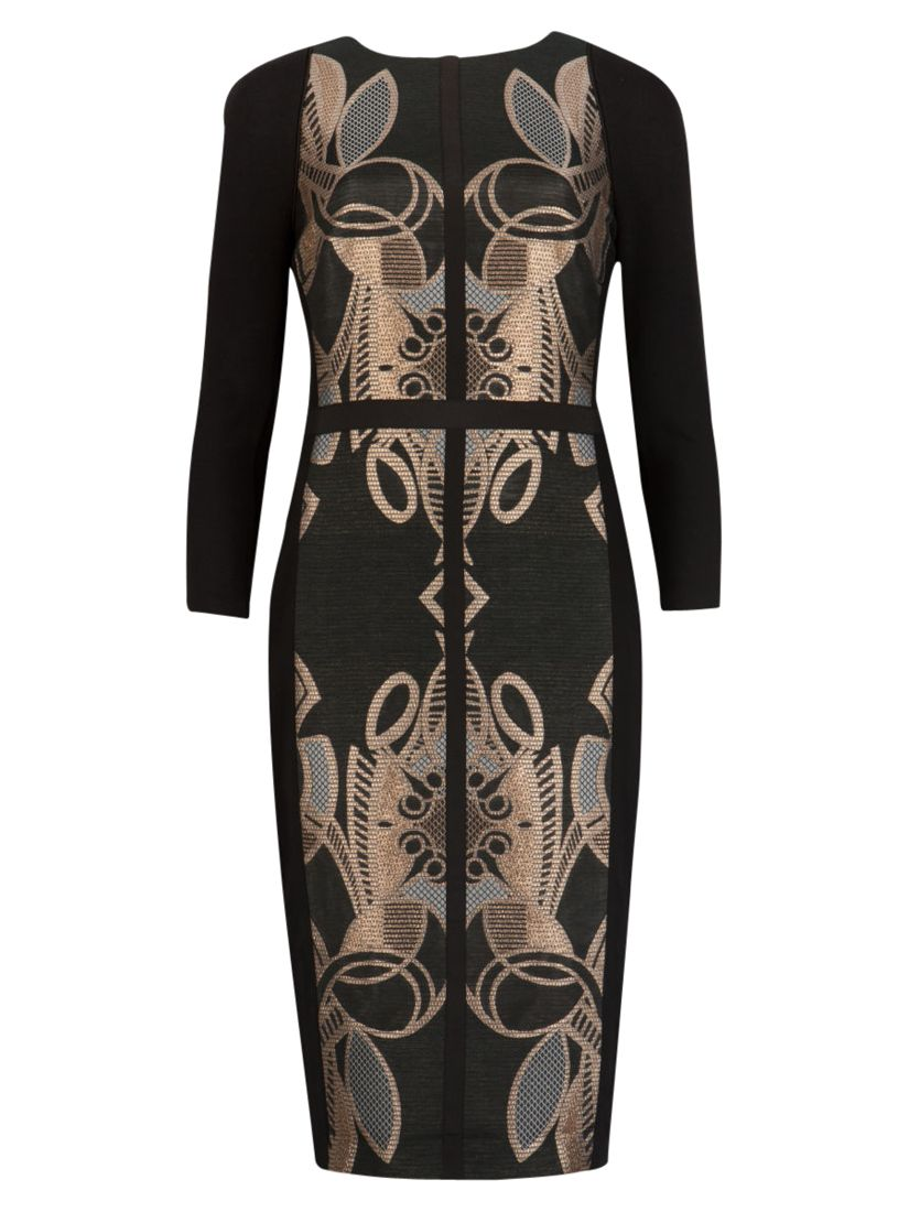 ted baker decadent jacquard dress rose gold, ted, baker, decadent, jacquard, dress, rose, gold, ted baker, 1|0|5|4|3|2, women, valentines fashion edit, womens dresses, special offers, womenswear offers, 30% off selected ted baker, fashion magazine, womenswear, men, brands l-z, 1861763