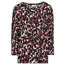 Buy Reiss Lago Long Sleeve Jersey Top, Passion Online at johnlewis.com