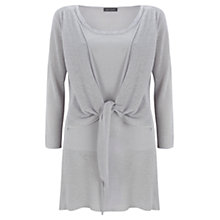 Buy Mint Velvet Tie Front Tunic Top, Dove Grey Online at johnlewis.com