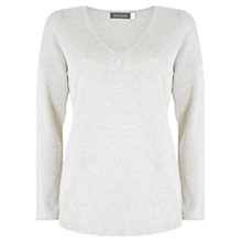 Buy Mint Velvet Scoop Neck Knit Top, Stone Online at johnlewis.com