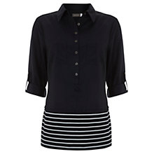 Buy Mint Velvet Stripe Shirt, Navy / Ivory Online at johnlewis.com