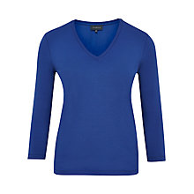 Buy Viyella Jersey V-Neck Top, Cobalt Online at johnlewis.com