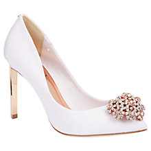 Buy Ted Baker Peetch Suede Court Shoes, Nude Online at johnlewis.com