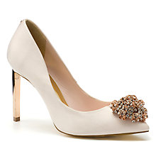 Buy Ted Baker Peetch Court Shoes, Nude Online at johnlewis.com