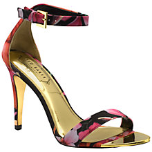 Buy Ted Baker Juliennas High Heeled Sandals, Black Print Online at johnlewis.com
