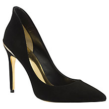 Buy Ted Baker Savenniers Suede High Heeled Court Shoes, Black Online at johnlewis.com