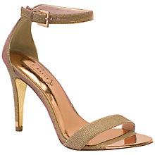 Buy Ted Baker Caitte Barely There High Heel Sandals, Rose Gold Online at johnlewis.com