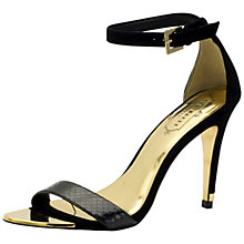 Buy Ted Baker Juliennas High Heeled Sandals, Black Suede Online at johnlewis.com