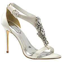 Buy Ted Baker Naiss Jewelled High Heel Sandals, Cream Online at johnlewis.com
