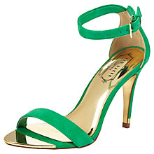 Buy Ted Baker Juliennas Suede High Heel Sandals, Green Online at johnlewis.com