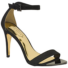 Buy Ted Baker Caitte Barely There High Heel Sandals, Black Online at johnlewis.com