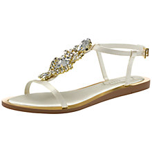 Buy Ted Baker Roseupe Jewelled Sandals, Cream Online at johnlewis.com
