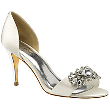 Buy Ted Baker Phinium Embellished d'Orsay High Heel Sandals, Cream Satin Online at johnlewis.com