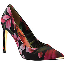 Buy Ted Baker Neevo Pointed Court Shoes, Black Multi Online at johnlewis.com